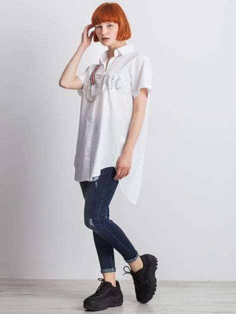 Biała koszula Cluelessly                               zdj.                              4