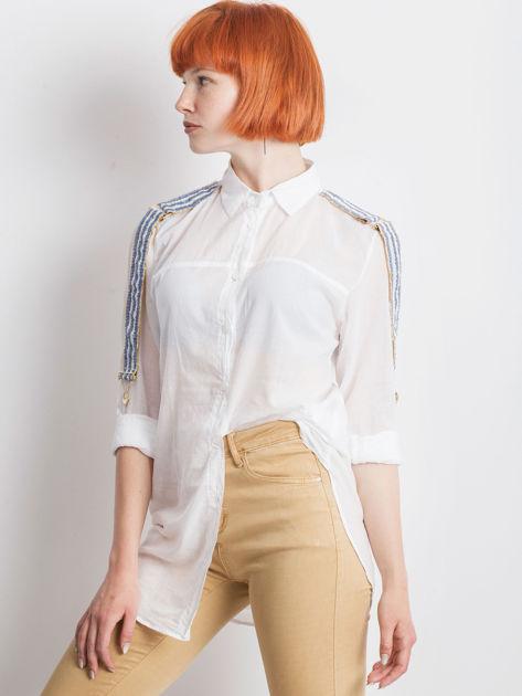Biała koszula Secondly                              zdj.                              5