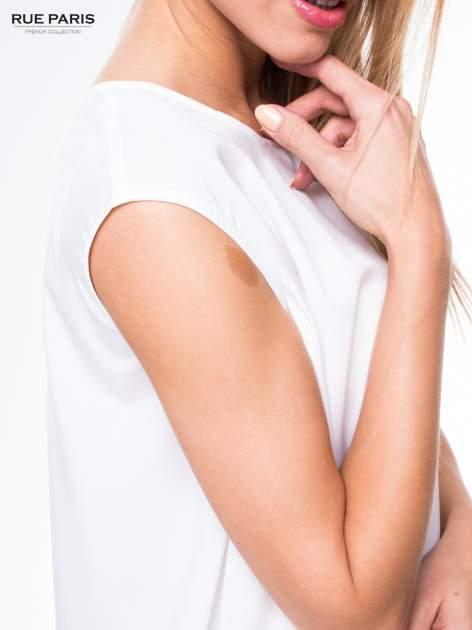 Biała koszula dzwonek z wydłużanym tyłem                                  zdj.                                  5