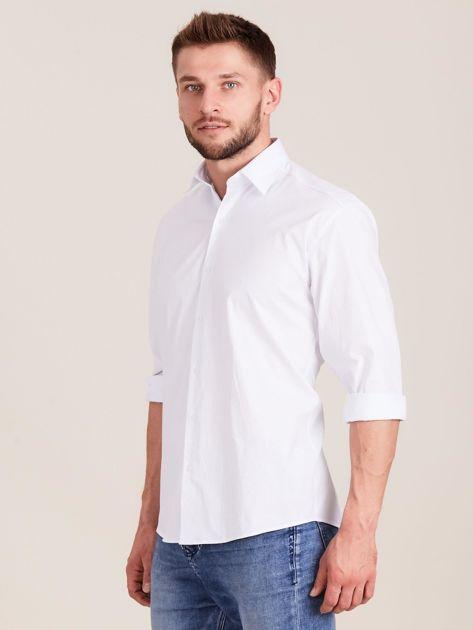 Biała koszula męska regular                              zdj.                              3