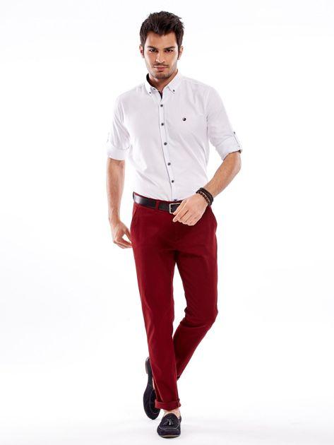 Biała koszula męska regular fit z podwijanymi rękawami                               zdj.                              15