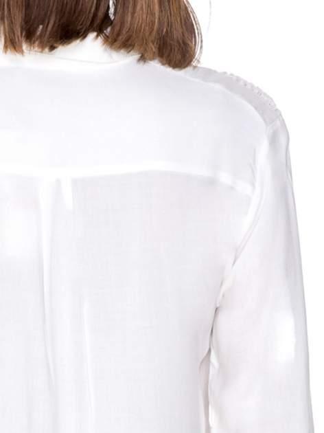 Biała koszula z aplikacją gwiazd na ramionach                                  zdj.                                  8