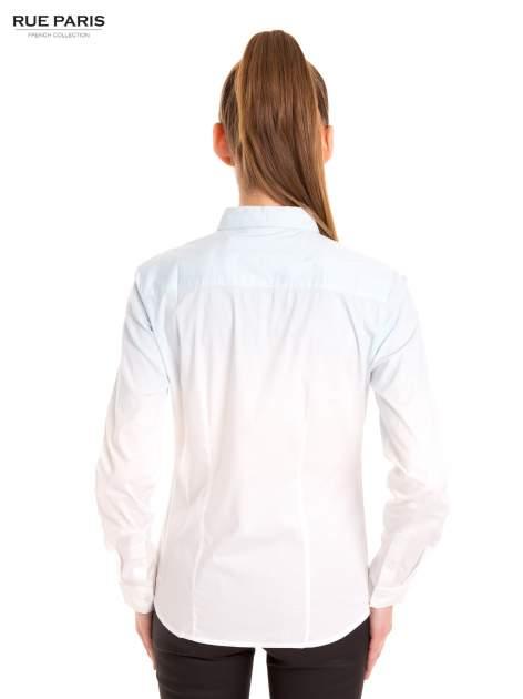 Biała koszula z efektem ombre                                  zdj.                                  4