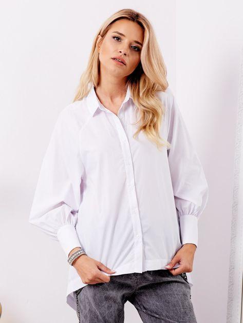 Biała koszula z fantazyjnym wiązaniem z tyłu                              zdj.                              4