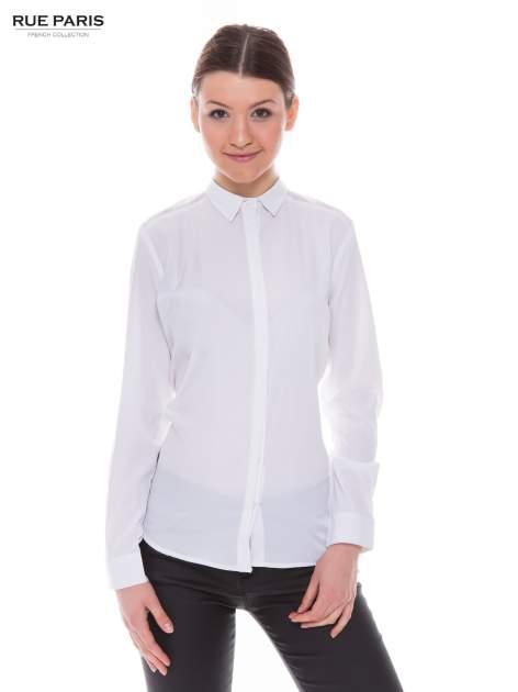 Biała koszula z siateczkowym tyłem