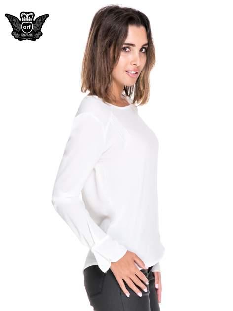 Biała koszula z wycięciem na plecach                                  zdj.                                  3