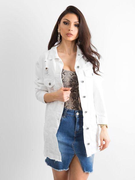 Biała kurtka jeansowa Modern                              zdj.                              1