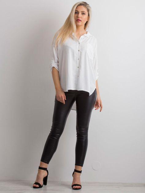 Biała luźna koszula                              zdj.                              4