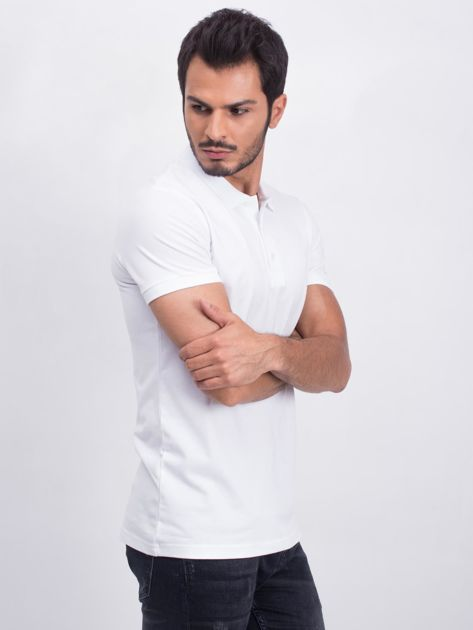 Biała męska koszulka polo Numerous                              zdj.                              3