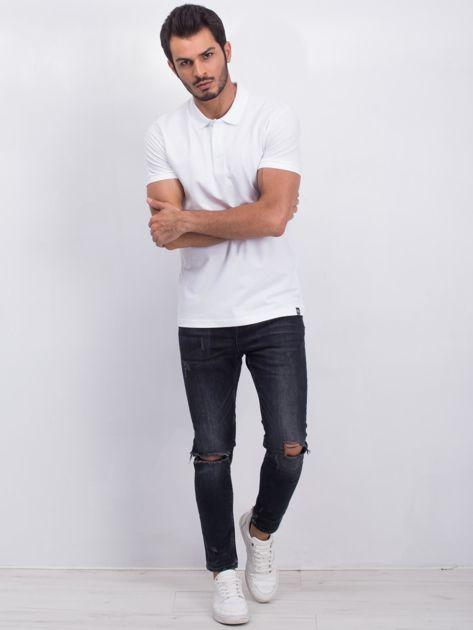 Biała męska koszulka polo Numerous                              zdj.                              4