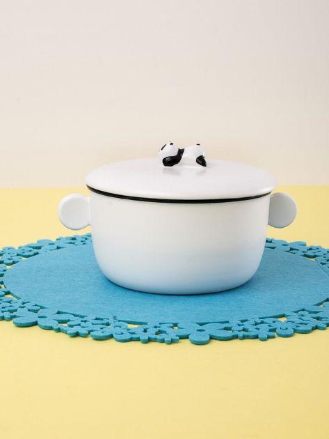 Biała miska ceramiczna z motywem pandy                              zdj.                              3