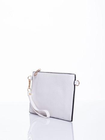 Biała prosta przewieszana torebka z uchwytem                                  zdj.                                  3