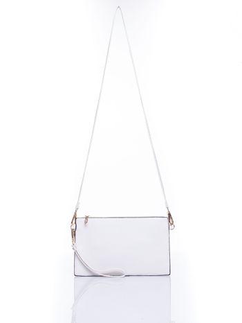Biała prosta przewieszana torebka z uchwytem                                  zdj.                                  4