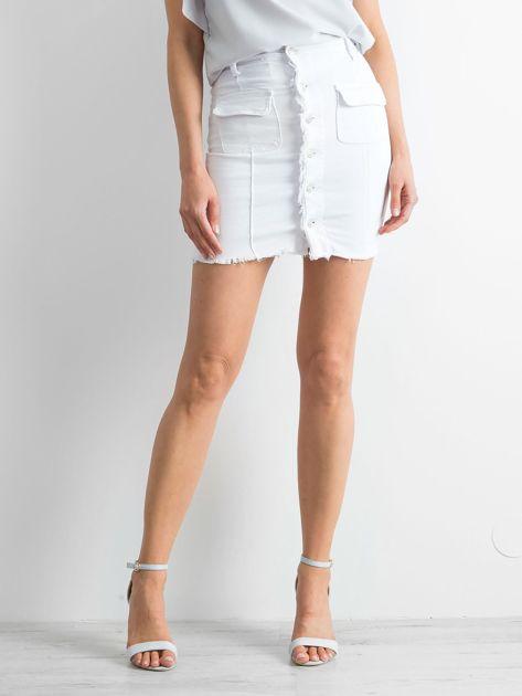 Biała spódnica Buttons                              zdj.                              1