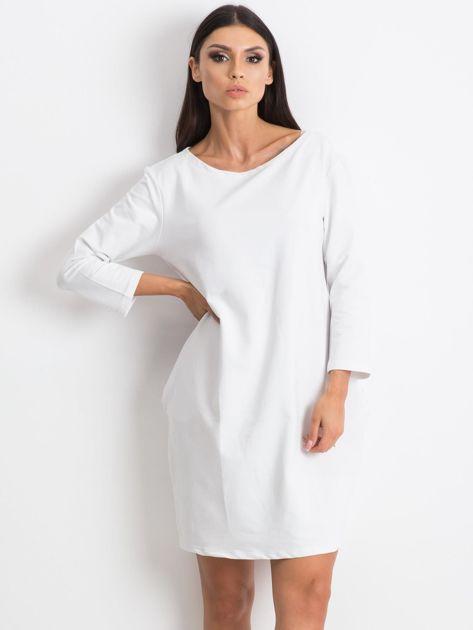 Biała sukienka Distinguished                              zdj.                              3