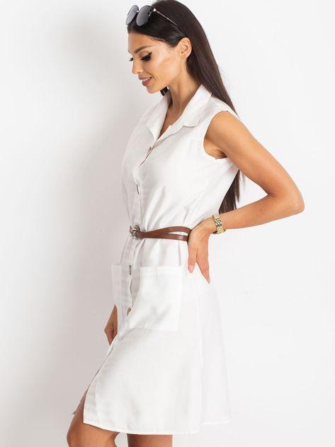 Biała sukienka Safari                              zdj.                              3