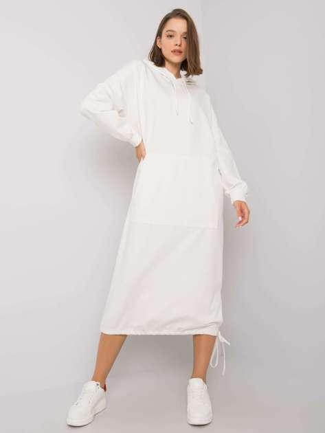 Biała sukienka dresowa Camryn