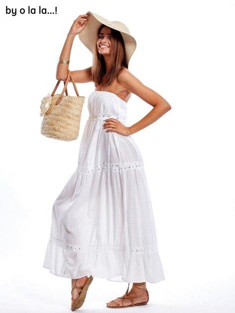 Biała sukienka maxi BY O LA LA                               zdj.                              5
