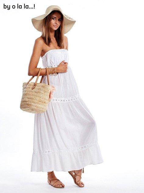Biała sukienka maxi BY O LA LA                               zdj.                              6