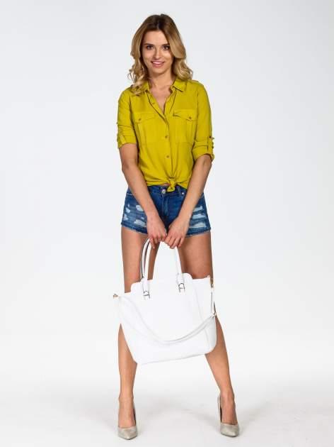 Biała torba shopper bag                                  zdj.                                  2