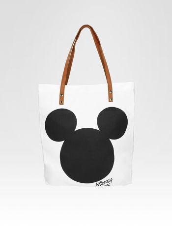 Biała torba shopper bag z motywem Mickey Mouse                                  zdj.                                  7