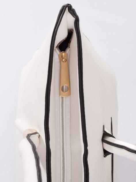 Biała torba shopper efekt saffiano                                  zdj.                                  6