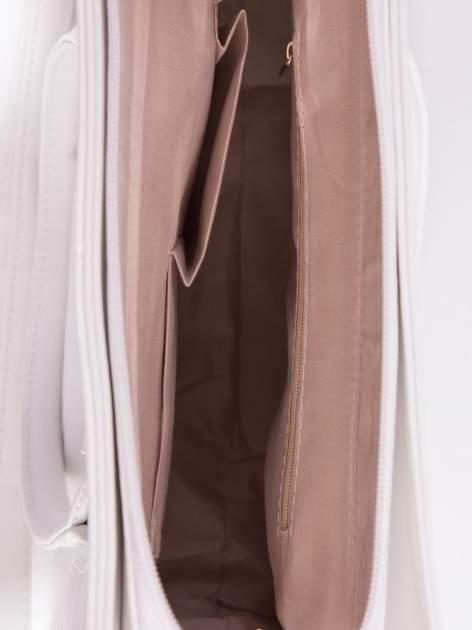 Biała torebka teczka z klapką                                  zdj.                                  5