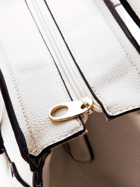 Biała trapezowa torba miejska                                  zdj.                                  6