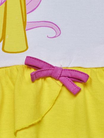 Biała tunika dla dziewczynki MY LITTLE PONY z kokardką                                  zdj.                                  5