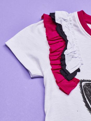 Biała tunika dla dziewczynki z nadrukiem FURBY                                  zdj.                                  4