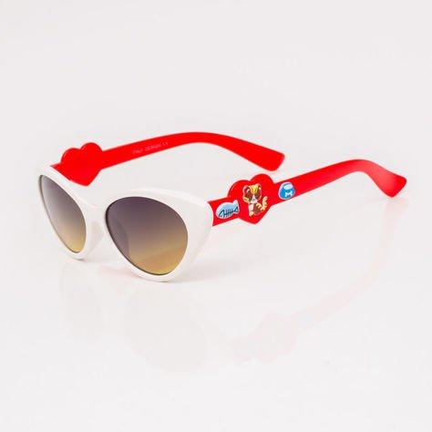 Białe Dziecięce Okulary przeciwsłoneczne                               zdj.                              2