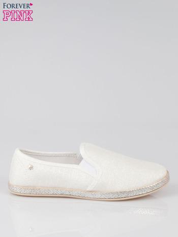Białe buty slip-on