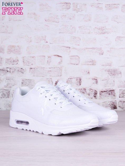 Białe buty sportowe faux leather Milkshake na poduszce powietrznej                                   zdj.                                  2