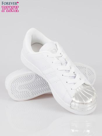 Białe buty sportowe material Enigmatic z metalicznym czubkiem                                  zdj.                                  4