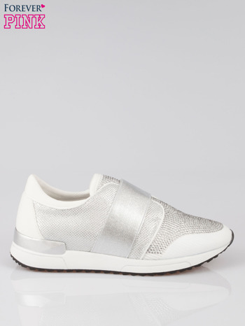 Białe buty sportowe textile Troublemaker z dżetami                                  zdj.                                  1