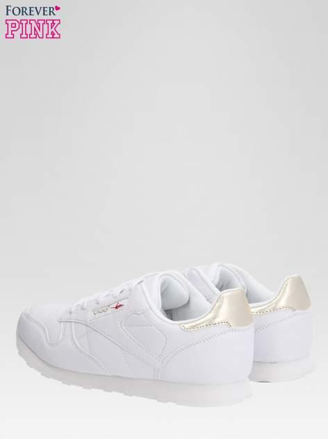 Białe buty sportowe ze złotym zapiętkiem                                  zdj.                                  5