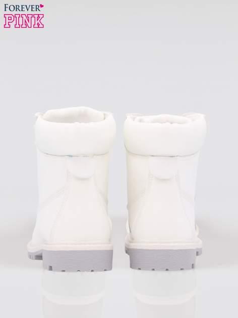 Białe buty trekkingowe damskie traperki Habbie                                  zdj.                                  3