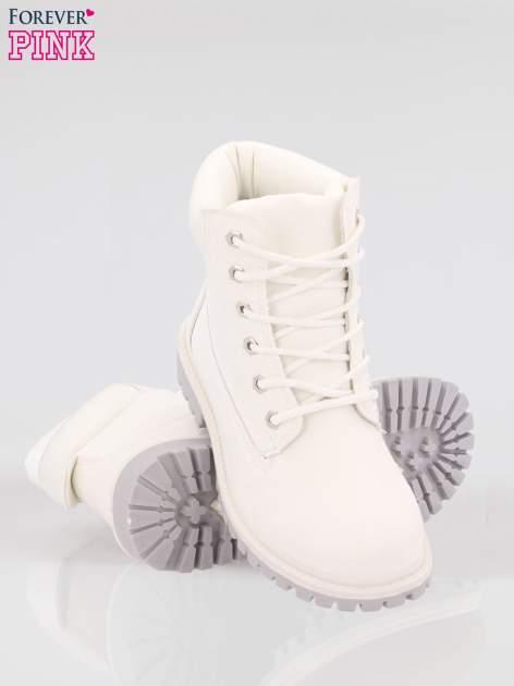 Białe buty trekkingowe damskie traperki Habbie                                  zdj.                                  4