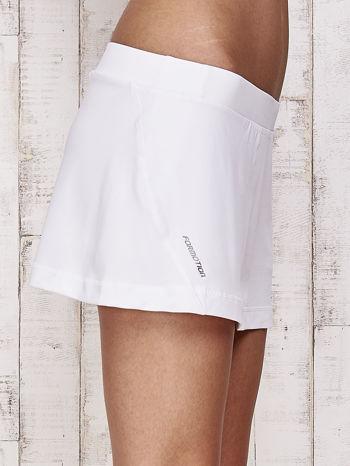 Białe gładkie spodenki spódniczka tenisowa                                   zdj.                                  5