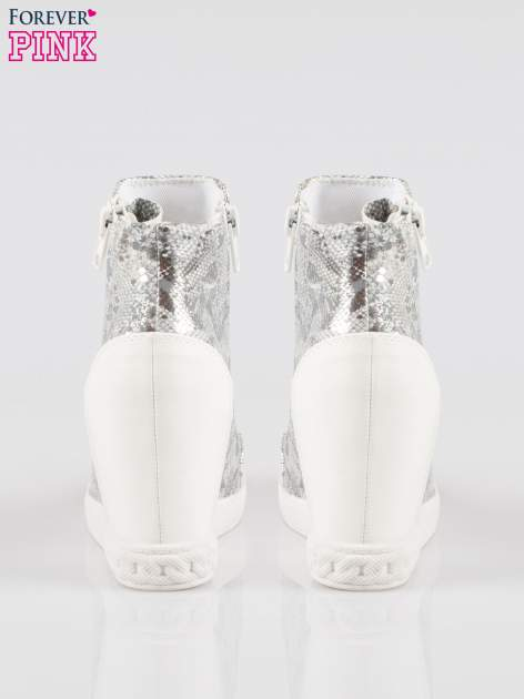 Białe sneakersy snake print z zamkiem                                  zdj.                                  3