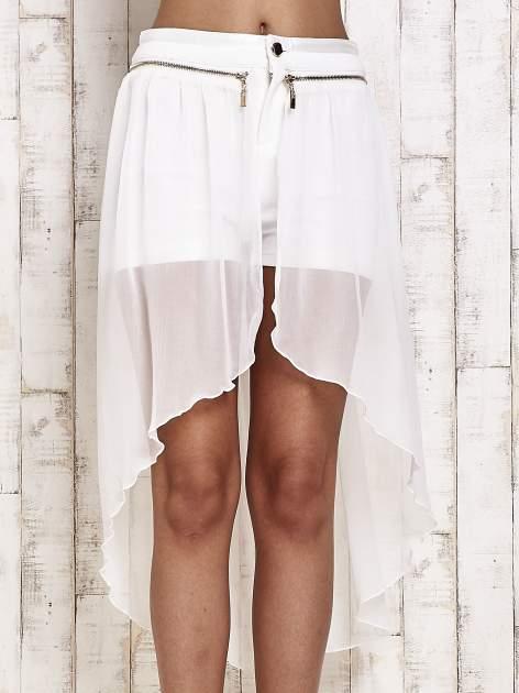 Białe spódnicospodnie z tiulowym trenem                                  zdj.                                  1