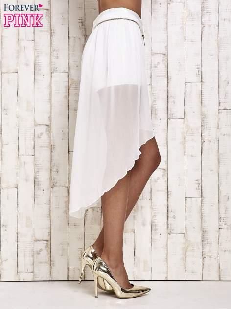 Białe spódnicospodnie z tiulowym trenem                                  zdj.                                  3
