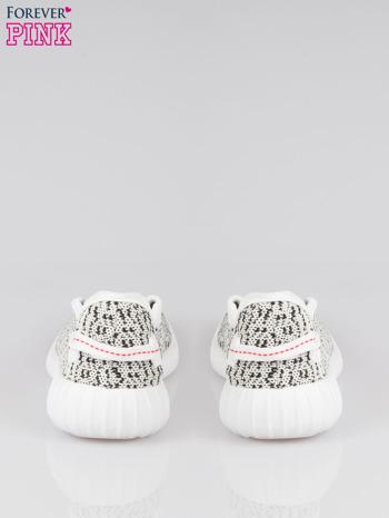 Białe sportowe buty textile Blossom z czarnym nadrukiem                                  zdj.                                  3