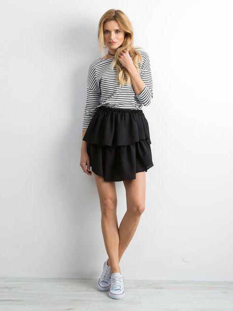 Biało-czarna bluzka damska w paski                              zdj.                              4