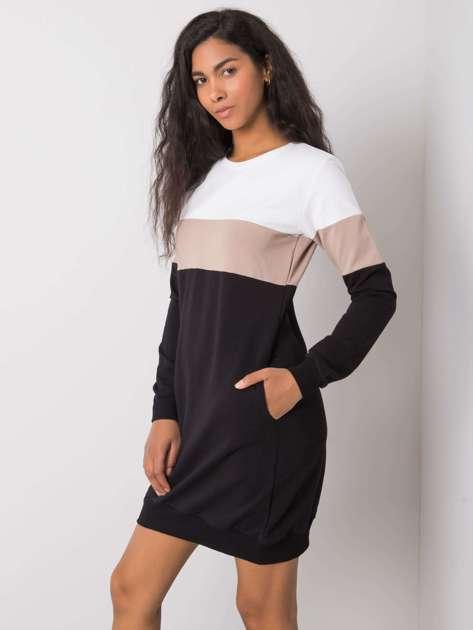 Biało-czarna sukienka Feliciana RUE PARIS
