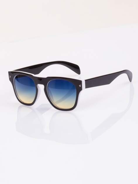 Biało-czarne okulary hipster w stylu VINTAGE RETRO                                   zdj.                                  2