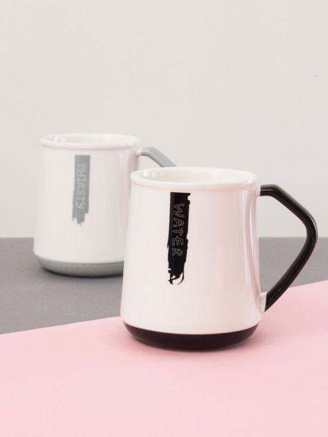 Biało-czarny kubek ceramiczny                              zdj.                              5