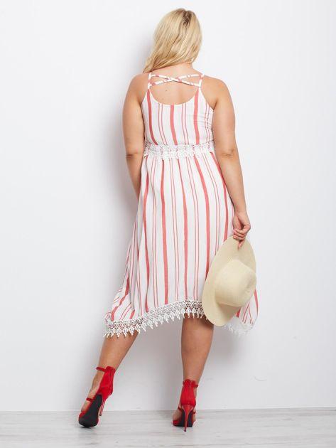 Biało-czerwona sukienka Indepedence                              zdj.                              6