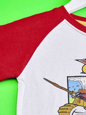 Biało-czerwony t-shirt chłopięcy z nadrukiem TRANSFORMERS                                  zdj.                                  3