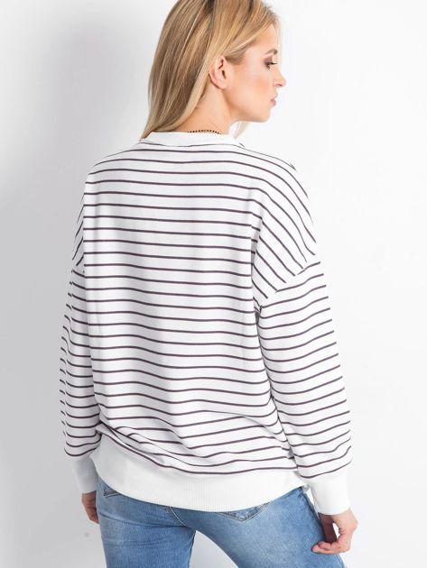 Biało-fioletowa bluza Irregularities                              zdj.                              2